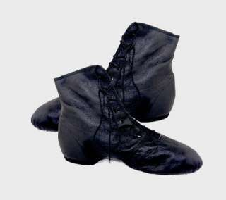 Bottines Jazz bi semelles en cuir noir GALLA 40