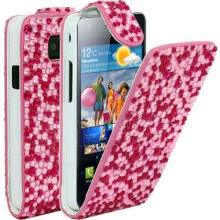 London Magic Store   Pink Diamante Leather Case For Samsung Galaxy S2