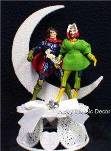 Gambit & Rogue Marvel Hero Figure Wedding Cake Topper