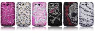 Carcasa tipo diamantes para HTC Wildfire G8 modelo Leopardo.
