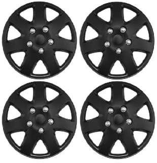 Passion Automotive   BLACK WHEEL TRIMS/COVERS/HUB CAPS FOR HONDA CIVIC