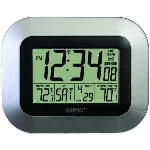 LA CROSSE TECHNOLOGY WS 8115U S ATOMIC DIGITAL WALL CLOCK