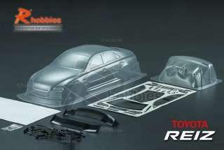 10 Toyota REIZ PC Transparent 190mm RC Car Body