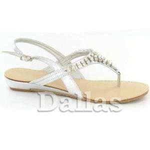 Shoes Bridesmaid Sandals Bridal Flat Wedding Ladies VUpSzM