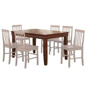 Walker Edison 60 in. Solid Wood Fancy Dining Table Home