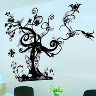 Stylish Tree Flower Butterfly Wall Stickers Decals Art