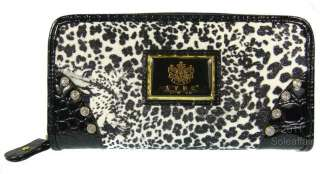 Womens Animal Leopard Cat Print Clutch Bag Ladies Purse