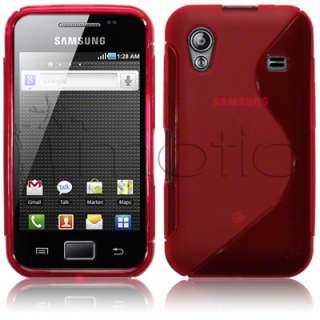 Funda de Goma para Samsung Galaxy ACE s5830 color Rojo diseño S.