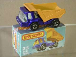 MATCHBOX SUPERFAST 23 ATLAS DUMP TRUCK NEW BOXED