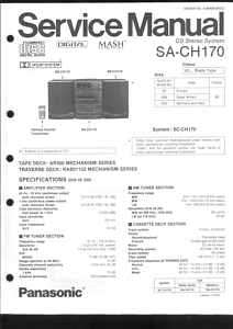 Technics Original Service Manual SA CH170 SA CH 170