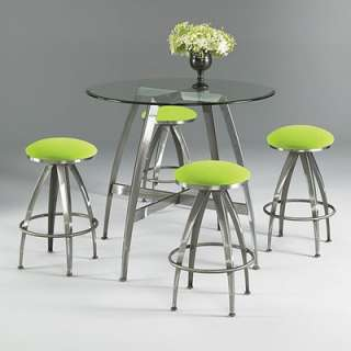 Papila Design Dining Table in White & Lime Green   FD 25 GR
