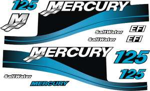 Mercury outboard motor 125hp decals stickers graphics b