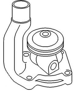AF2368R Brand New John Deere Tractor Water Pump w/ Pulley 720 730 Gas