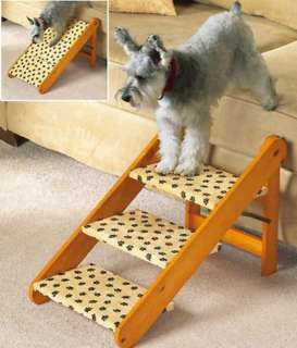 Folding Adjustable Pet Steps or Ramp 3 Stairs / Steps