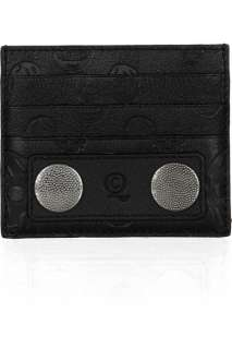 Alexander McQueen Skull embossed leather card holder   50% Off Now at