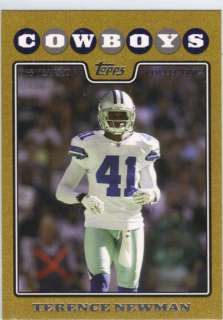TERRENCE NEWMAN 2003 TOPPS GOLD BORDER #260 COWBOYS