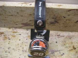 Tony Stewart #20 Pocket Watch w/ Leather Holder Strap