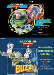 TOY STORY WOODY/BUZZ Invitation/Invite NEWEST DESIGNS