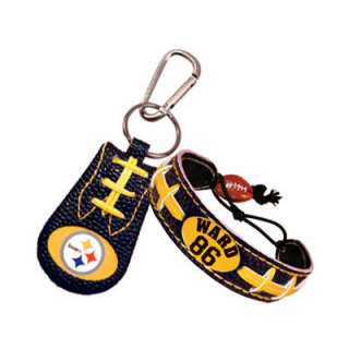 Hines Ward Pittsburgh Steelers Bracelet & Keychain Set