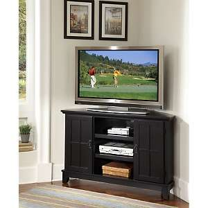 Home Styles Arts and Crafts Corner TV Stand   Black