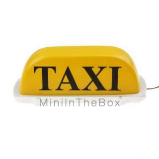 US$ 25.89   Yellow Roof Top Taxi Light / Sign 12V with Magnetic Base