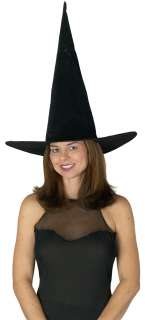 Adult Black Velvet Witch Hat   Witch Costume Accessories