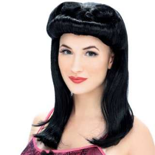 Halloween Costumes Pinup Wig   Black