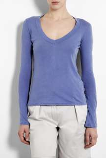 James Perse  Freshwater Basic Long Sleeve Jersey Top by James Perse