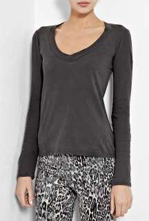 James Perse  Abyss Basic Long Sleeve Jersey Top by James Perse