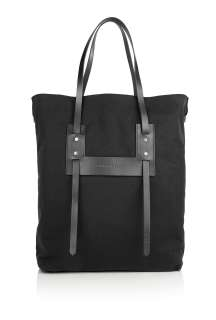 Burberry Brit  Black Canvas Wheatley Tote Bag by Burberry Brit