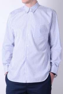 Navy Fine Stripe Classic Fit Cotton Shirt by Comme des Garco   Navy