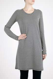 American Vintage  Striped Long Sleeve T Shirt Dress by American