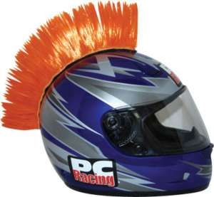 MOTORCYCLE ATV QUAD DIRT ROAD BIKE HELMET MOHAWK ORANGE