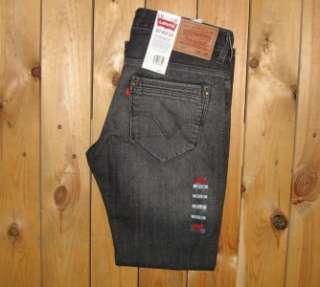 Levis Mens 527 Premium Boot Cut Tainted Black Jeans #0002