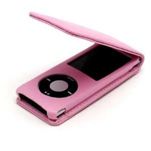 Pink Premium Leather Case for Apple iPod nano 4th Gen