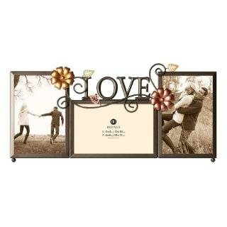 Malden Live Laugh Love 3 Picture Wood Frame, 2 by 3 Inch, Black