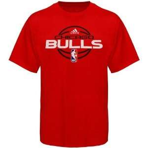 adidas Chicago Bulls Red Team Issue T shirt Sports