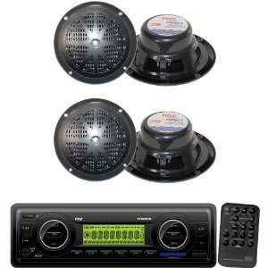 Pyle Marine Radio Receiver and Speaker Package   PLMR87WB AM/FM
