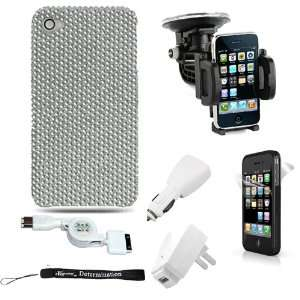 HD FULL DIAMOND CASE SILVER REAR ONLY for Apple iPhone 4 / 4th