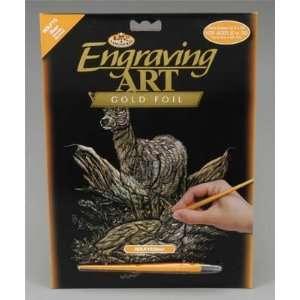 Royal Brush   Gold Foil Engraving Art Deer (Metal Art Kits