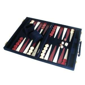 15 Attache Backgammon Set, Blue Suede Toys & Games