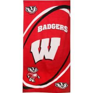 Wisconsin Badgers NCAA Beach/Bath 30X60 Towel  Sports