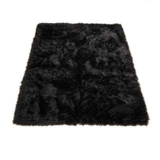 Black Bear  Bear Collection  Faux Fur Rug  3 foot X 5 foot