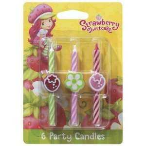 6 pc Strawberry Shortcake Birthday Cake Candles Toys & Games