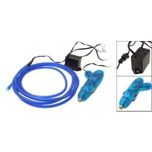 Blue Flexible Neon Light Strip w Cigarette Lighter Plug: Automotive