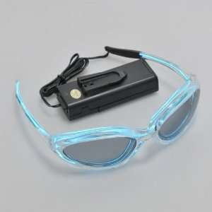 Flashing and Glowing EL Glasses, 2 Mode, Blue (2*AA)