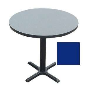 Bxt42R 37 Cafe and Breakroom Tables   Round   Blue