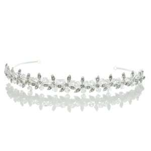 Bridal Wedding Rhinestone Crystal Beads Flower Prom Headband