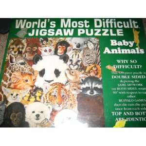 com Worlds Most Difficult Jigsaw Puzzle ~ Baby Animals Toys & Games
