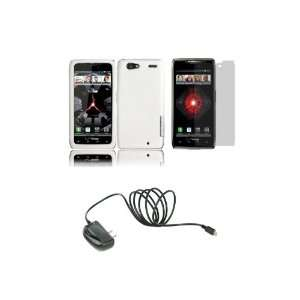 RAZR MAXX (Verizon) Premium Combo Pack   White Hard Shield Case Cover